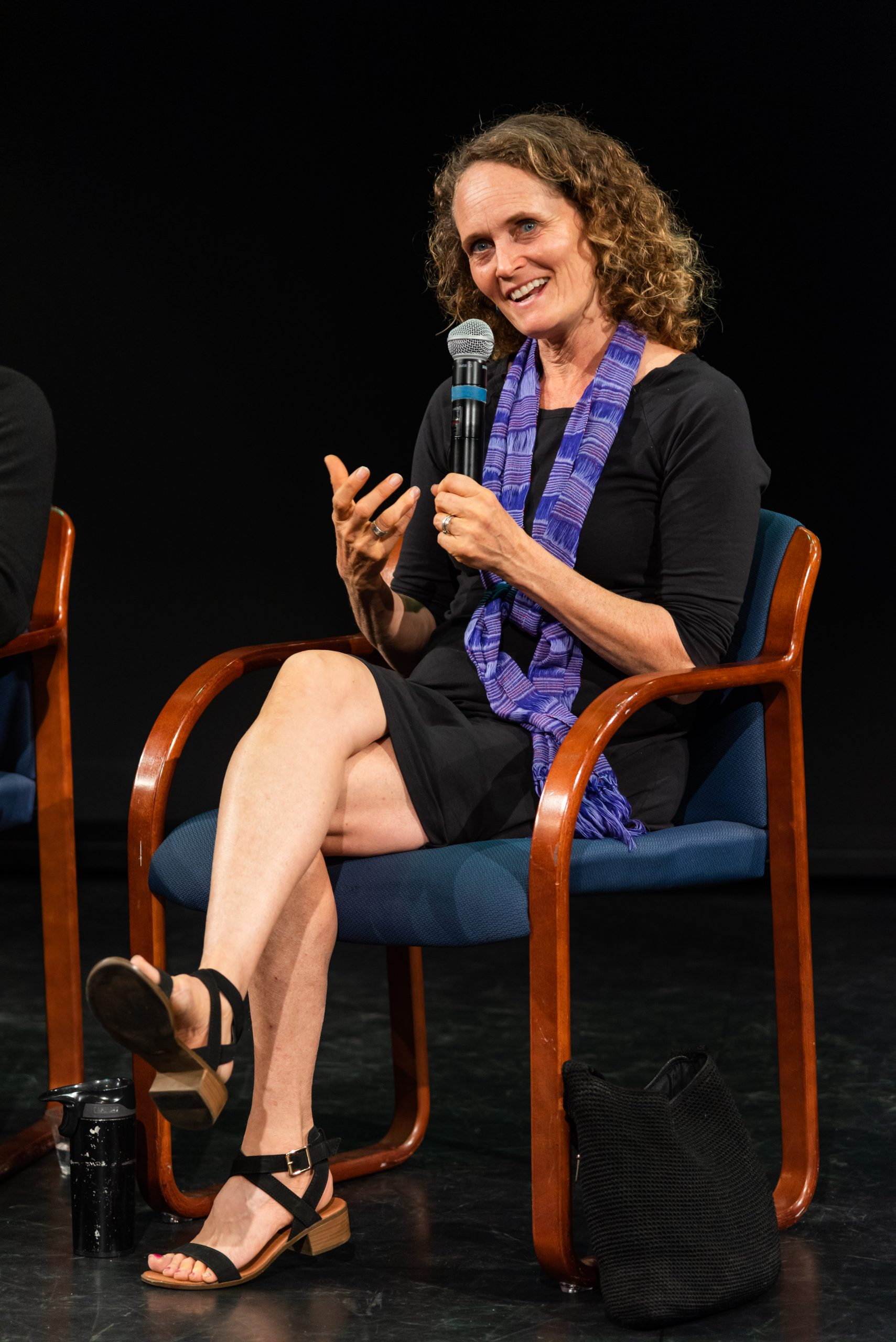 Jenny Jay is pictured during a talk show